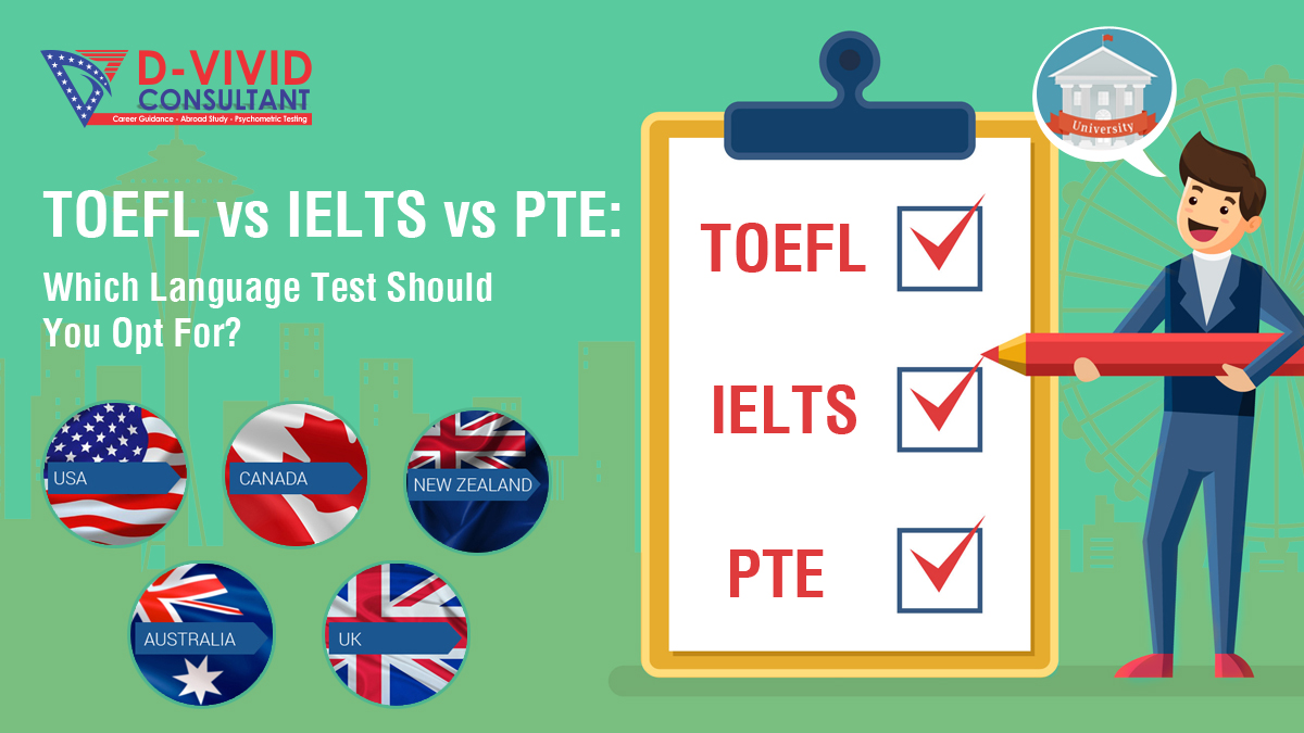 Which English Language Test Should You Opt for? IELTS, TOEFL OR PTE